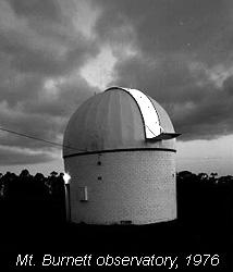 Mt. Burnett observatory