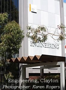 Engineering buildings, Clayton campus